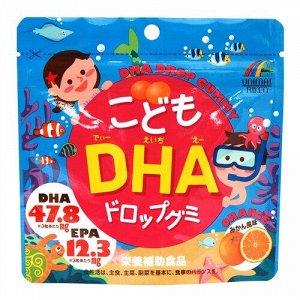 UNIMAT RIKEN DHA Drop Gummy For Kids - DHA витамины омега-3 с апельсиновым вкусом
