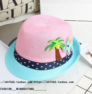 Летняя шляпка нежно-розовая