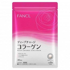 FANCL Deep Charge Collagen - коллаген в таблетках с экстрактом розы