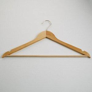 Вешалка-плечики 45см для одежды деревянная с перекладиной ТД-00019