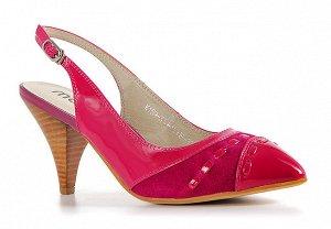 Кожаные туфли MOSSO малинового цвета