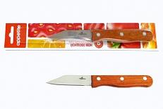 Нож Нож нерж Кантри   д/овощей 7см, в блистере размер общий 18см, длина лезвия 7,5см
