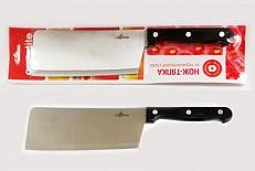 Нож Нож нерж Шеф тяпка 17см, в блистере размер общий 28см, длина лезвия 16,7см