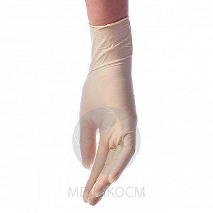 Перчатки BENOVY Latex Powdered, перчатки латексные, опудренные, цвет латекс, S, 50 пар в упаковке