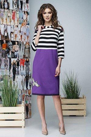 Платье Фантазия Мод 3404 фиолетовое