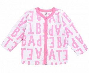 Кофточка для девочки Crockid К 300450 розовые нарисованные буквы