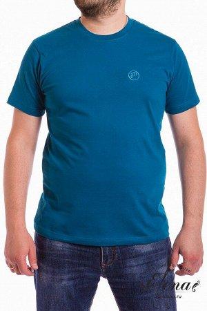 Футболка Мужская футболка выполнена из хлопкового полотна с добавлением лайкры. Горловина имеет круглый вырез, рукава короткие. Спереди вышивка. Размерный ряд: 44-62. Состав Хлопок 95% Лайкра 5% Артик