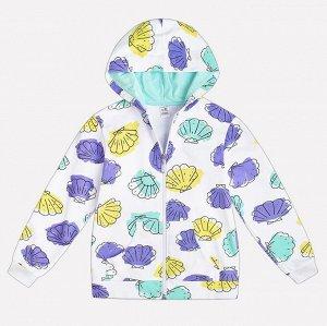 Куртка для девочки Crockid К 300571 волшебные ракушки на белом к1232