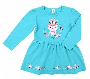 Платье для девочки Crockid К 5401 темный минт1