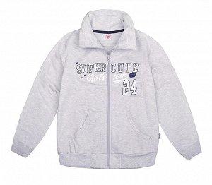 Куртка для девочки Crockid К 300294 серо-голуб. меланж