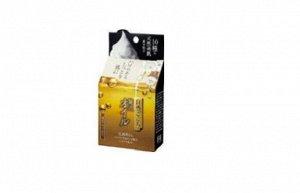 Очищающее мыло для лица с маслами, гиалуроновой кислотой, коллагеном и церамидами «Luxury Oil» (с мочалкой) / кусок 80 г / 48