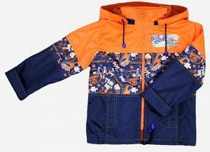 Куртка для мальчиков на флисе (Ткань верха плащевая DESPO PU MILKY подкладка FLEECE 180, капюшон отгстегивается, на полочках бок