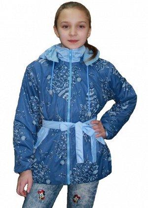 Куртка для девочек на флисе (Ткань верха плащевая fitsistem, подкладка флис 180, капюшон отстегивается, на полочках боковые карм