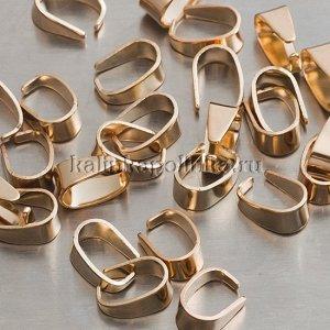 Держатели для кулонов, р-р 8х6х4мм, отв-е 7х5мм, цвет русское золото