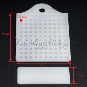 Инструмент для сортировки и фасовки бусин, акрил, для 4мм бусин