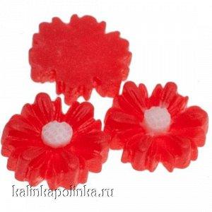 Цветочки из эпоксидной смолы, цвет красный, р-р 8.5х3мм