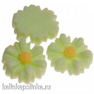 Цветочки из эпоксидной смолы, цвет салатовый, р-р 8.5х3мм