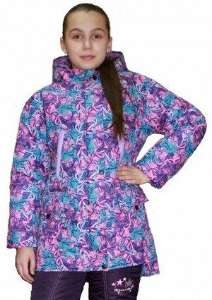 Куртка для девочек демисезонная (Ткань верха плащевая Добби Понж МЕМБРАНА 3000/500 , подкладка тафетта 210 , утеплитель синтепон