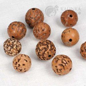 Бусины рудракша (рудракши) шлифованные 12-14мм