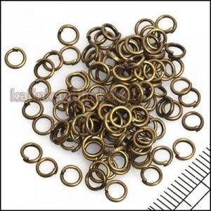 Колечки соединительные,разъемные, цвет бронза, р-р 4х0.7 мм