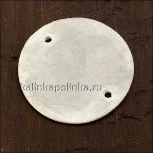 Коннектор перламутровый круглый, цвет естественный белый, р-р 30мм, толщина 1мм, отв. 1.6мм.
