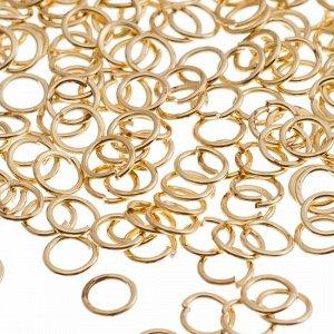 Колечки соединительные,разьемные, железные, цвет русское золото, р-р 4х0.7мм