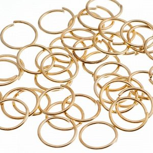 Колечки соединительные, цвет русское золото, железо, р-р 7х0.8мм, в 10 гр. около 115 шт.