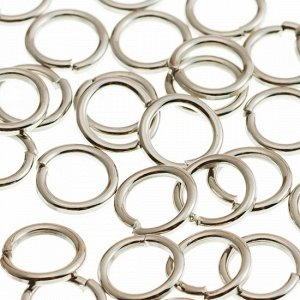 Колечки соединительные железные, гальваническое покрытие цвета платина, р-р 6х0.7мм.