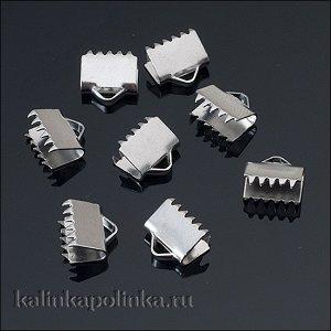 Зажимы для лент, хирургическая сталь, р-р 8.5х8мм, отв-е 2мм