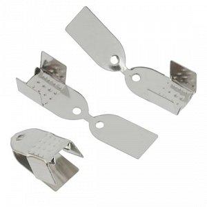 Концевики для тонких шнуров, железо, цвет платина, ширина 4.5мм, отверстие 1.5мм