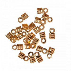 Концевики для шнуров 3мм, цвет желтое золото
