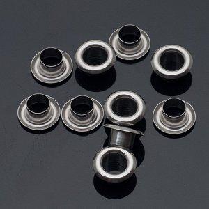 Люверсы из хирургической стали, цвет натуральный, размер 9.5х4.5мм, внутренний диаметр 5мм