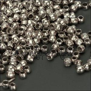 Кримпы (зажимные бусины), латунь, цвет платина, р-р 1.5мм, ОПТОМ Кримпы (зажимные бусины), латунь, цвет платина, р-р 1.5мм