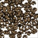 Шапочки для кримпов гладкие, латунь, цвет бронза, 5.6х6.2х3.8мм
