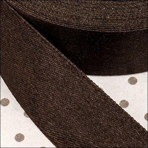 Лента атласная, ширина 25мм, цвет шоколадный