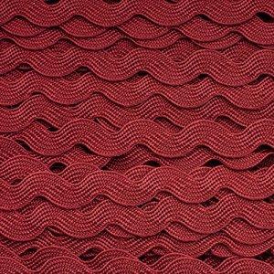 Тесьма вьюнок, цвет бордовый, ширина 8мм