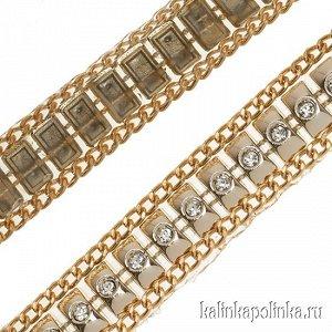 Тесьма золотая акриловая на силиконовой основе, ширина 17мм