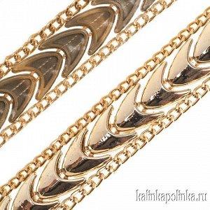 Тесьма золотая акриловая на силиконовой основе, ширина 20м