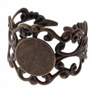 Основа для кольца с площадкой 10мм, р-р 20х16мм, р-р регулируется, ОПТ Основа для кольца с площадкой 10мм, р-р 20х16мм, р-р регулируется