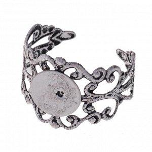 Основа для кольца с площадкой 10мм, р-р 21х16мм, р-р регулируется, ОПТ Основа для кольца с площадкой 10мм, р-р 21х16мм, р-р регулируется