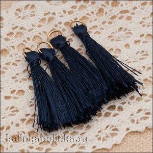 Кисточки для украшений декоративные, шелковистые,цвет темно-синий, размер 3см, ОПТ Кисточки для украшений декоративные, шелковистые,цвет темно-синий, размер 3см