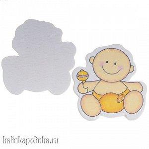 Малыш в желтом подгузнике, 44х42мм