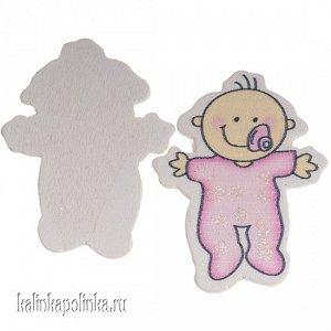 Малыш в розовом, 38х49мм