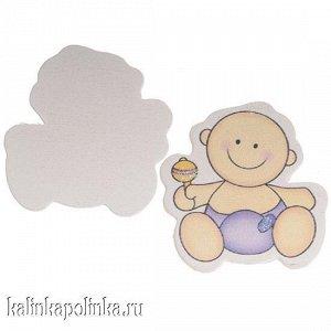 Малыш в сиреневом подгузнике, 44х42мм