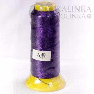 Нитки синтетические толщина 0.5мм, цвет сиреневый, Нитки синтетические толщина 0.5мм, цвет сиреневый, катушка 12см.