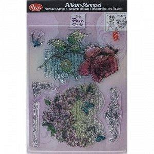 Текстуры-штампы Viva Decor силиконовые Сердце из цветов роз
