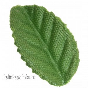 Детали для изготовления цветов Листочек, р-р ок. 25мм, цвет зеленый, в 2 гр около 65шт., Детали для изготовления цветов Листочек, р-р ок. 25мм, цвет зеленый, в 6 гр ок. 195 шт.