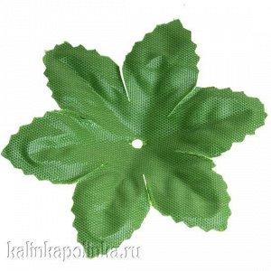 Детали для изготовления цветов Листочек, р-р ок. 70мм, цвет зеленый