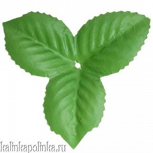 Детали для изготовления цветов Листочек, р-р ок. 85мм, цвет зеленый