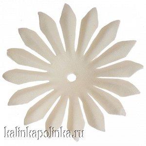 Детали для изготовления цветов, р-р ок. 45мм, цвет ванильный, в 2гр. около 20шт.